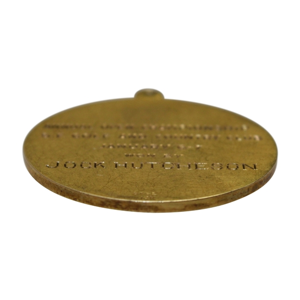 1922 Northern California Golf Association Annual Open Championship Medal Won by Jock Hutchison