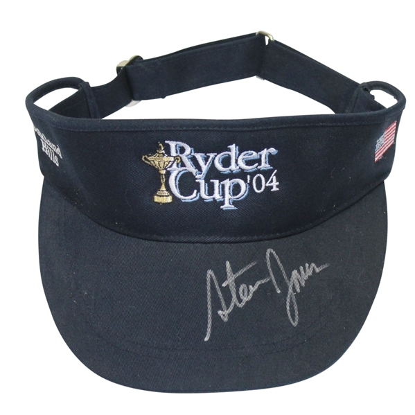 2004 Ryder Cup Navy Visor Signed by Assistant Captain - Steve Jones Collection JSA ALOA