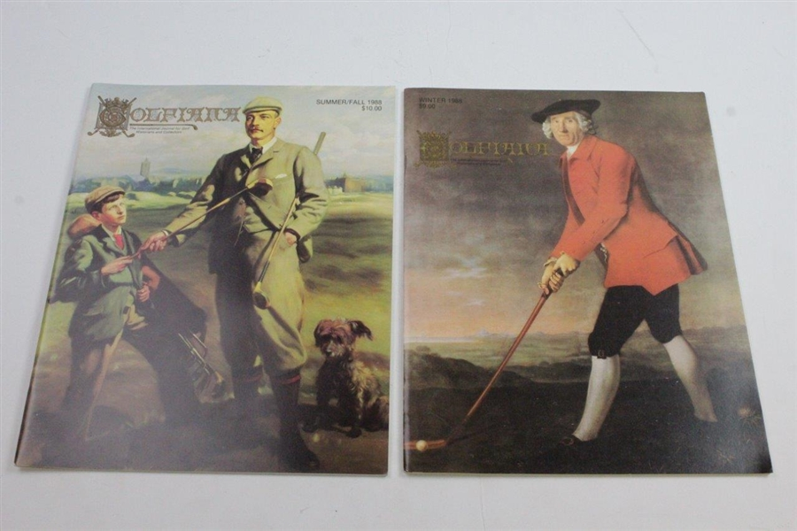 Five Out of the First Six Golfiana Magazines Published - International Journal for Golf Historians & Collectors