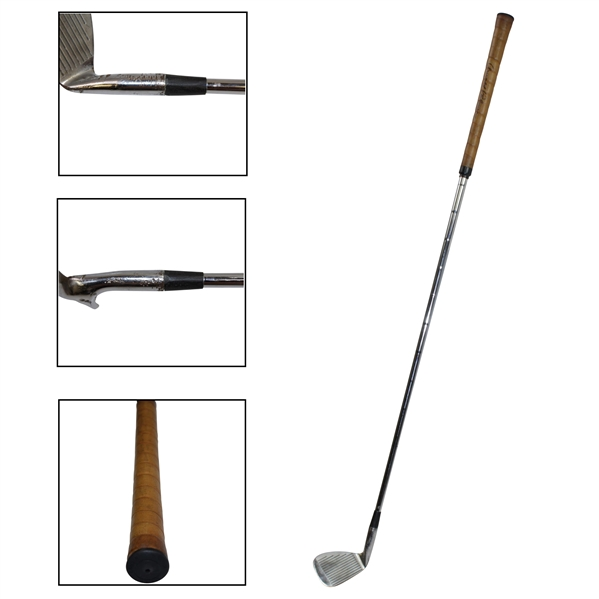 Arnold Palmer 1960's Tournament Used & Signed 9-Iron Given to Myron Cope with Letter - 1964 Masters Win
