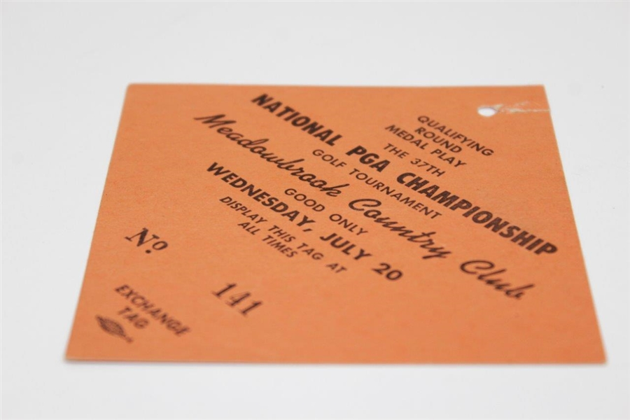 1955 PGA Championship at Meadowbrook Country Club Wednesday Ticket #141