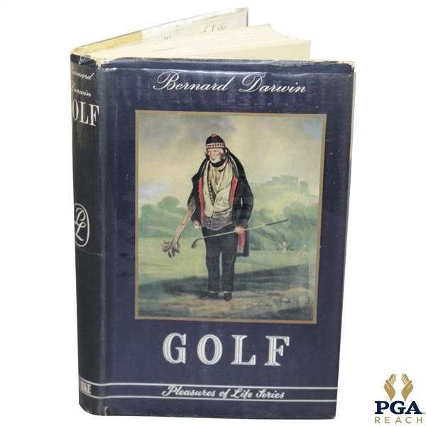 Bernard Darwin Signed 1954 'Golf: Pleasures of Life Series' Book JSA ALOA
