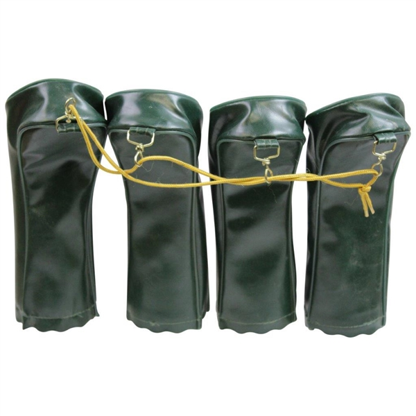 Classic Set of Jack Nicklaus Co. Green & White Vinyl Head Covers