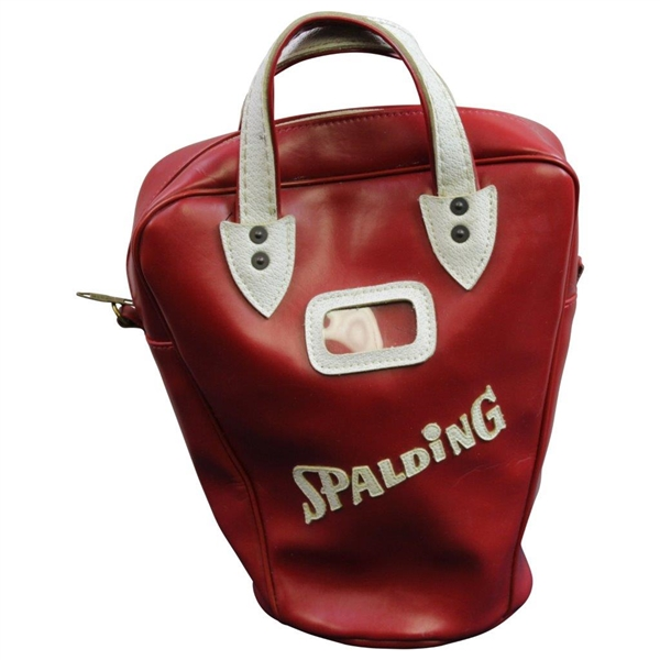 Classic Charley Weisner Red & White Golf Shag Bag