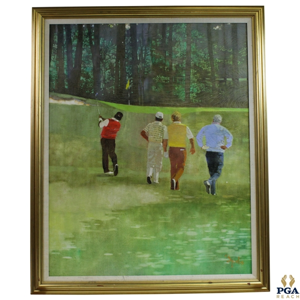 Original Big Three & Lee Oil on Canvas Painting Signed by Artist Bernie Fuchs - Framed