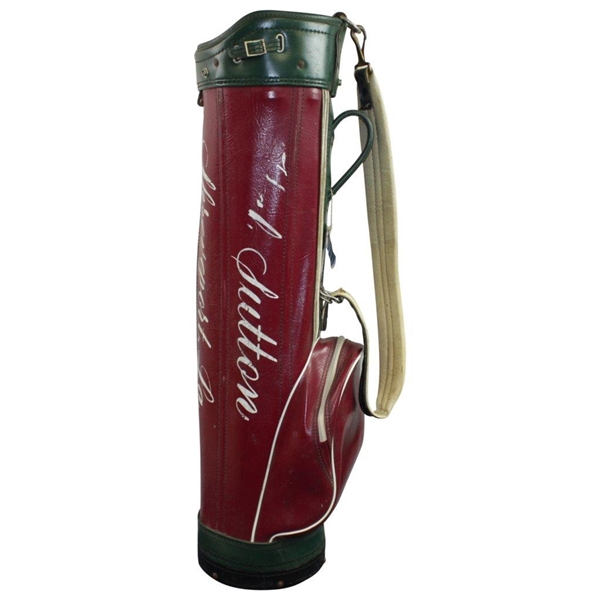 Hal Sutton's Personal Shreveport, La. Green & Red Golf Bag from Junior Years