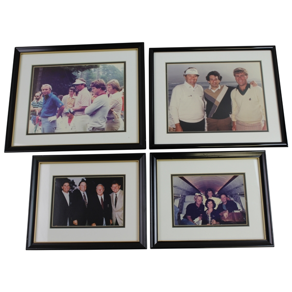 Ray Floyd Personal Framed Photos with Arnold Palmer, Greg Norman, Price, Couples, & others