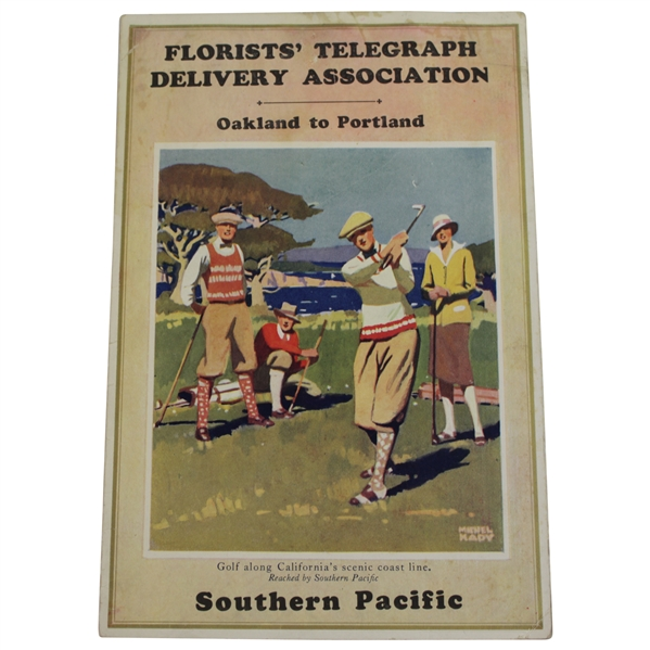 Circa 1920's Southern Pacific Railroad Oakland to Portland Florist's Telegraph Delivery association