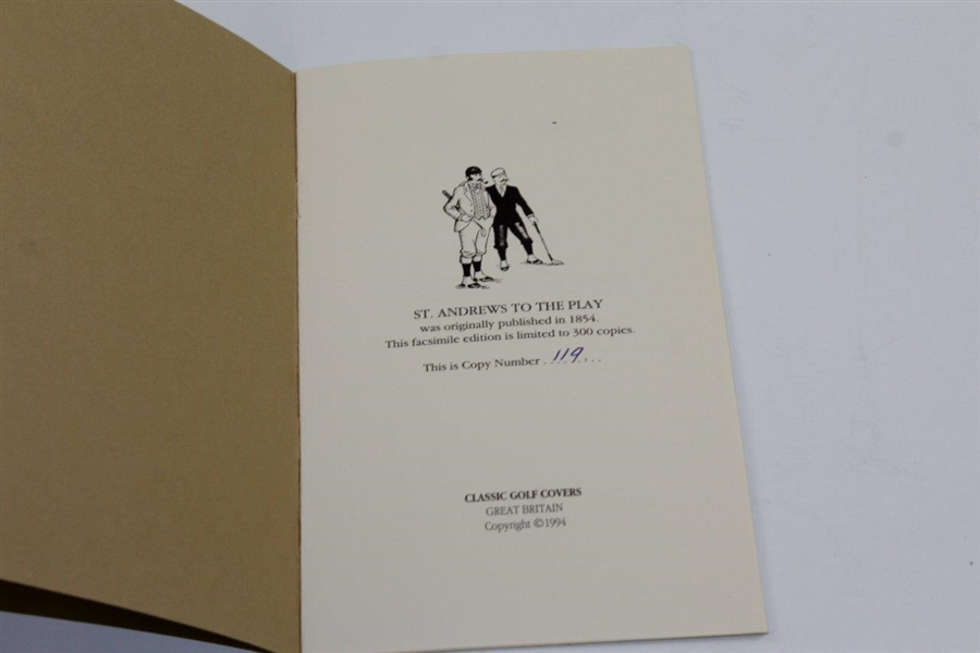 Ltd Ed Facsimile of Rare 1854 'St. Andrews to the Play' Dedicated to R&A by a Member Booklet