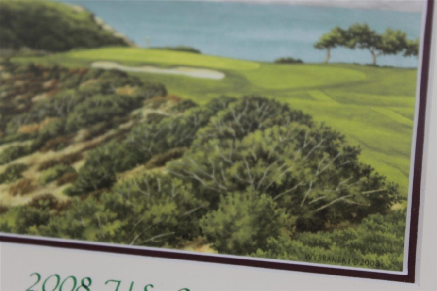2008 US Open at Torrey Pines Framed 2003 Wybranski Print in Original Box - Framed