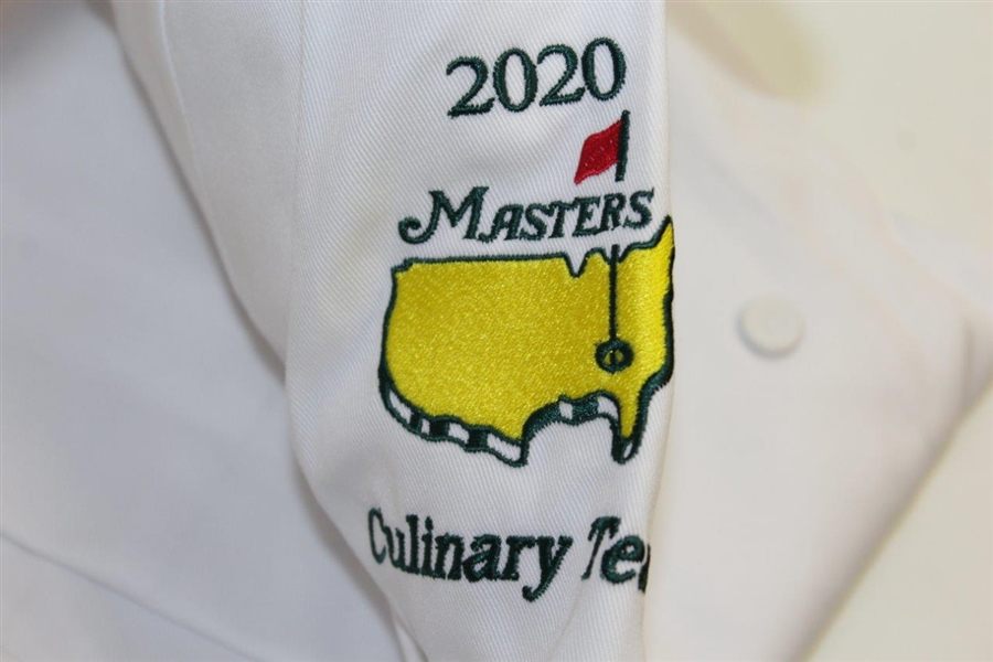 2020 Masters Tournament Culinary Team White Jacket Made by ChefWorks - Size XL