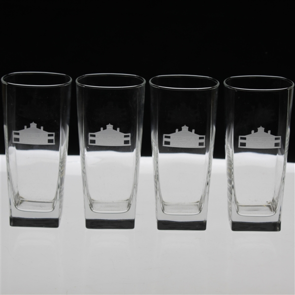 Set of Four (4) Augusta National Golf Club Clubhouse Logo Water Glasses