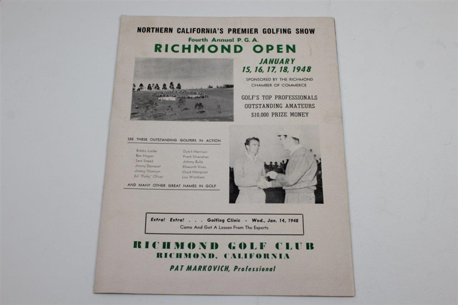 1967 Junior Golfer & Golden Gate Programs/Pamphlets - Rod Munday Collection