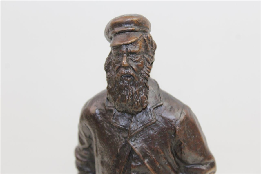 Vintage Old Tom Morris 10 1/2 Tall Unmarked Bronze Statue - 7.5lbs