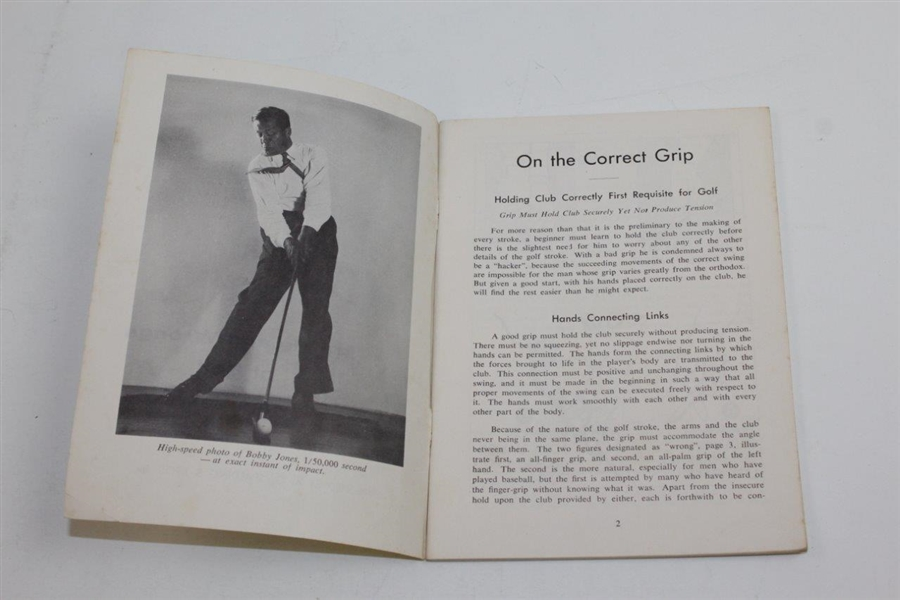 Rights and Wrongs of Golf by Bobby Jones Published by A.G. Spalding & Bros, Inc.
