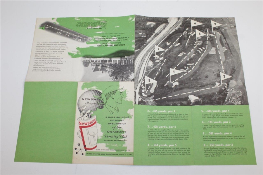 1953 Newsweek Hole-by-Hole Pictorial Description of the Oakmont Country Club