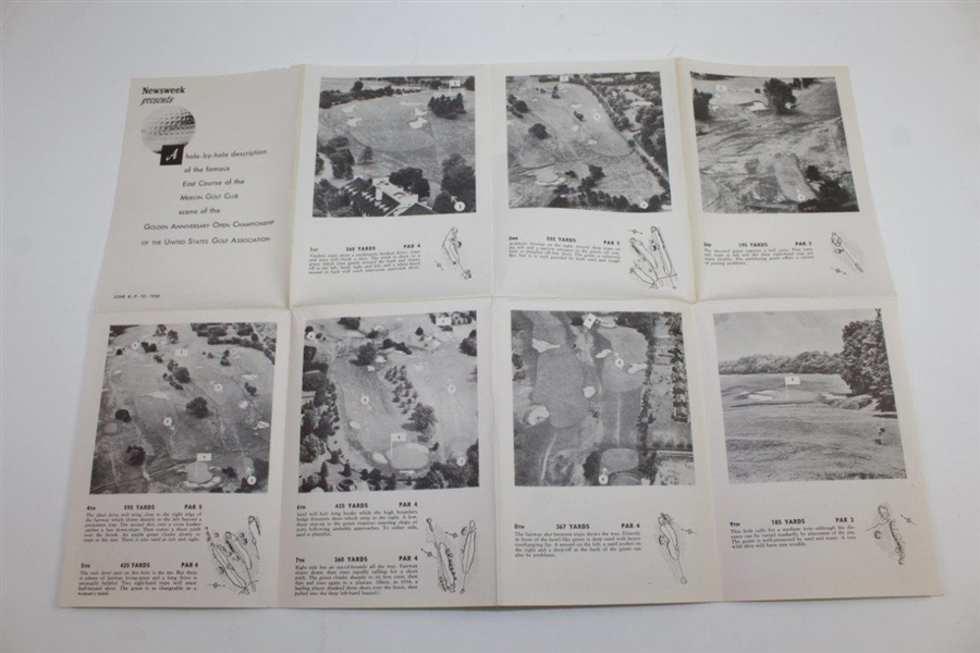 1950 Newsweek Hole-by-Hole Pictorial Description of the Merion Golf Club