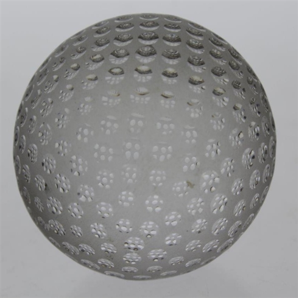 Tiffany & Co Luxury Leaded Crystal Art Glass Golf Ball Paperweight