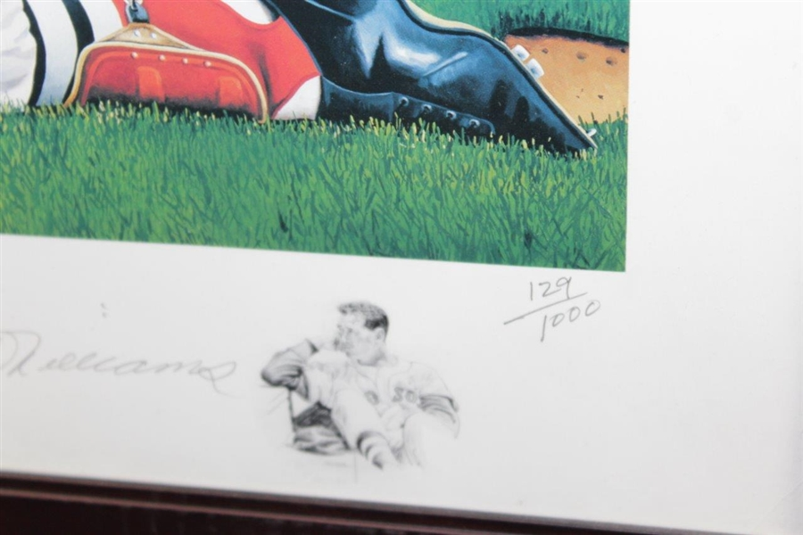 Ted Williams Signed The Splendid Splinter Ltd Ed George Wright Print - Framed JSA ALOA