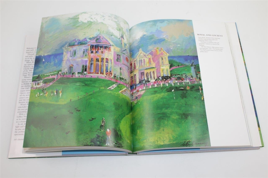 Leroy Neiman Signed 1992 'Big Time Golf' Book JSA ALOA