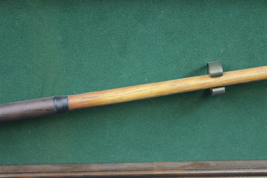 Walter Hagen Replica Mid-Mashie Presented at the 1977 Memorial Tournament with Display