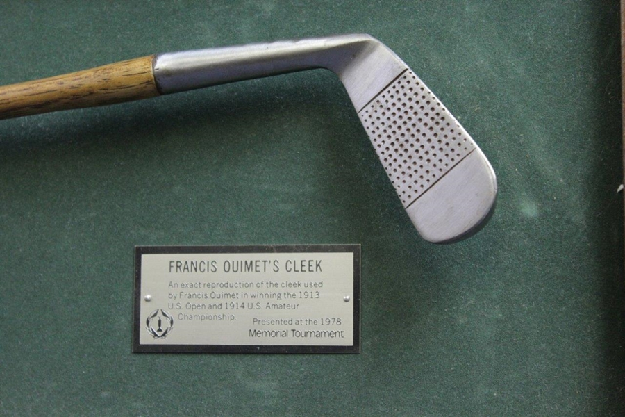 Francis Oiumet Replica Cleek Presented at the 1978 Memorial Tournament with Display