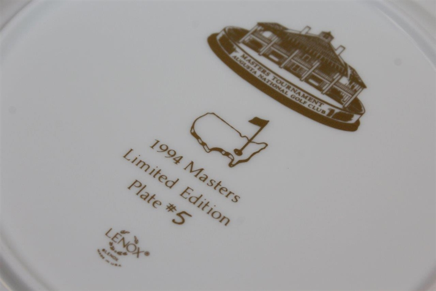 1994 Masters Lenox Limited Edition Member Plate #6 in Original Box