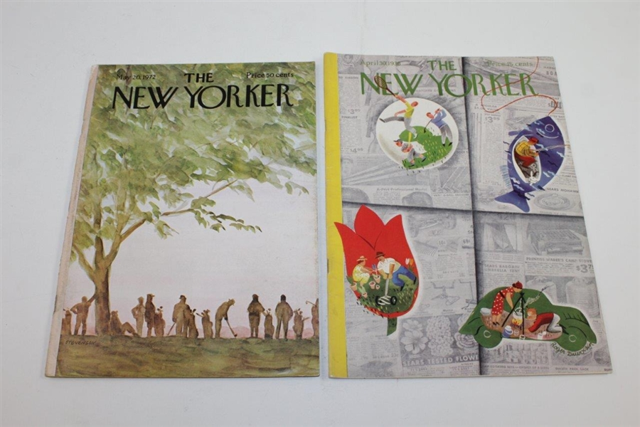 1936 (April), 1948 (September), 1972 (May), & 1987 (August) The New Yorker Magazines