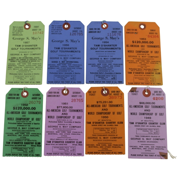 1949-1957 All-American Golf Tournament/World Championship of Golf Tickets (No 1955)