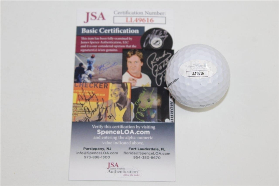 Dustin Johnson Signed Masters Logo Golf Ball JSA #LL49616