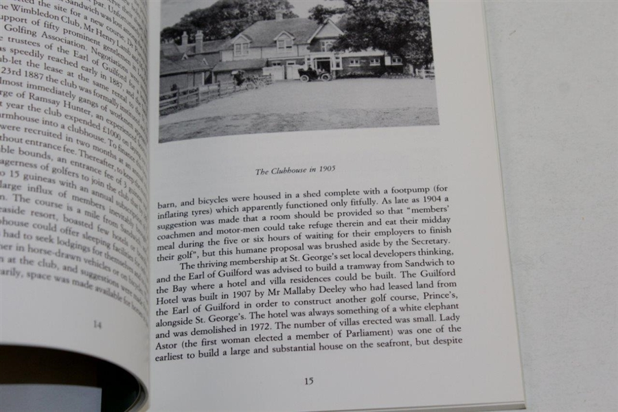 1987 'A History of Royal St. George's Golf Course' Book by B.J.W. Hill and Peter Hill
