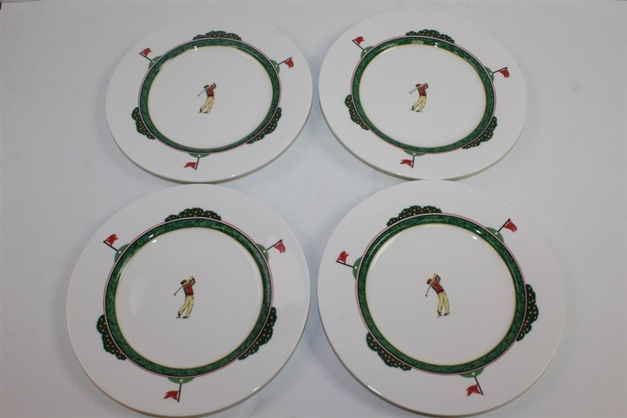 Christopher Stuart Fairway Porcelain 20pc Full Place Setting - Clubhouse, Flags, & Golfers
