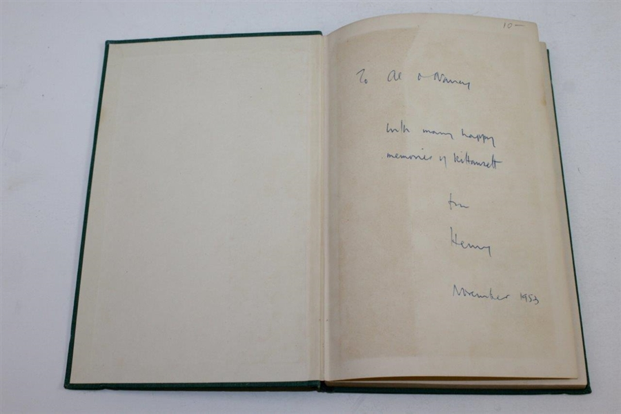 1952 'Golf Mixture' Book Signed by Henry Longhurst JSA ALOA