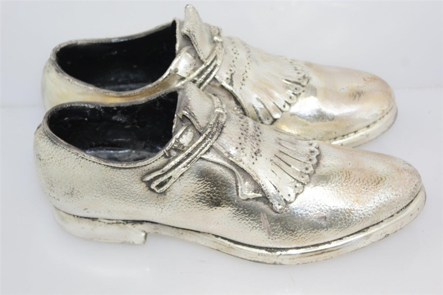 Vintage Cast Metal Mens Ben Hogan Pair of Shoes Trophy Display