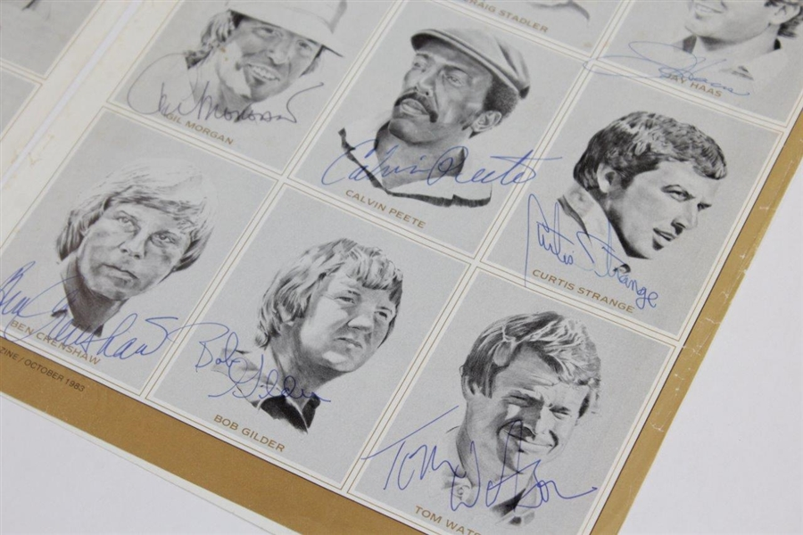 1983 Ryder Cup Team Signed Magazine Page of Van Zandt Pencil Sketches JSA ALOA