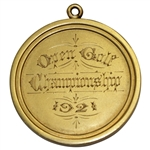 1921 OPEN Championship at St. Andrews Winners Gold Medal Won by Jock Hutchison - First American