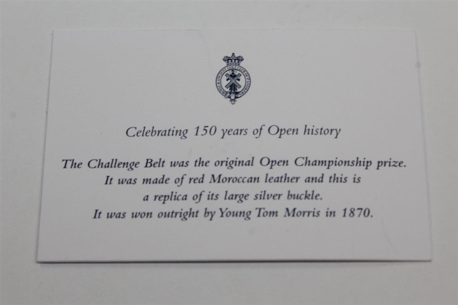Open Championship Challenge Belt Buckle - 2010 OPEN @ St. Andrews Champion's Gift - Todd Hamilton Collection