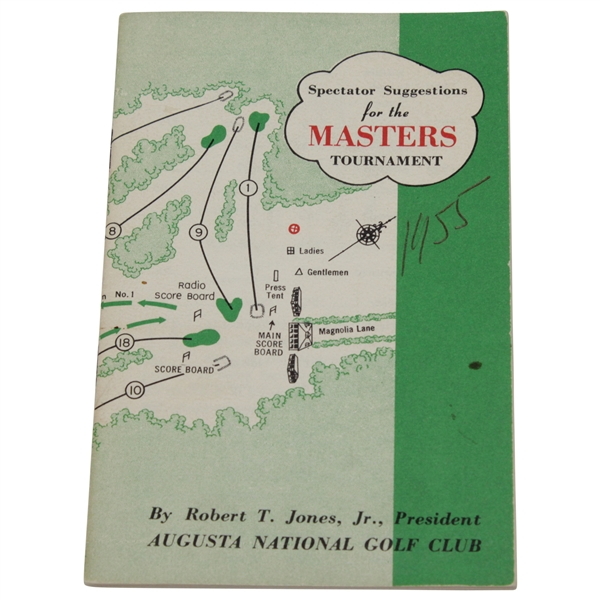1955 Masters Tournament Spectator Guide - Cary Middlecoff Winner