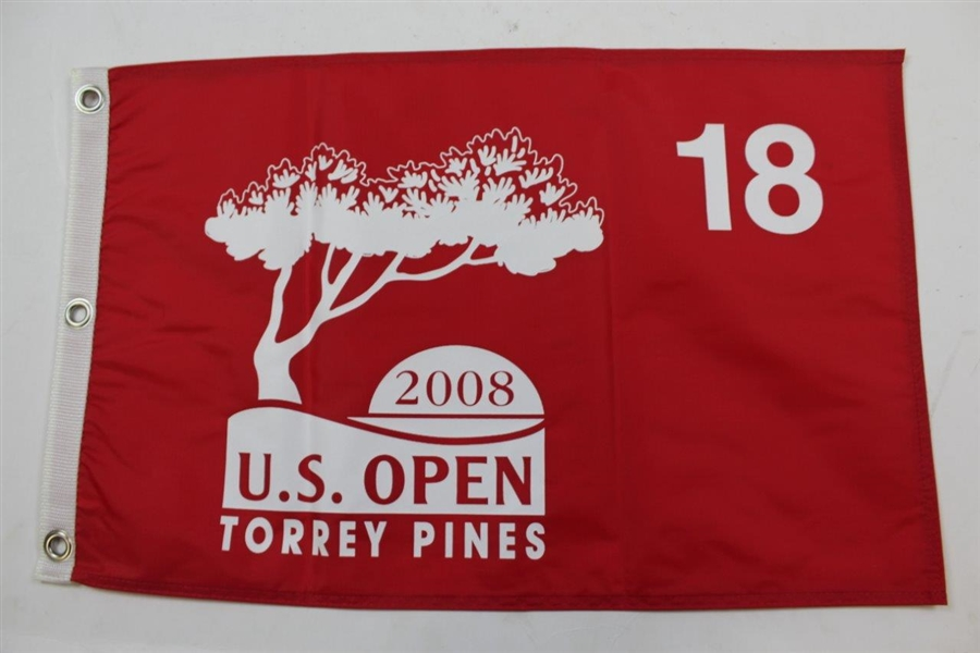 Eight (8) US Open Red Screen Flags - 2007, 2008, 2009, 2010, 2011, 2012, 2013, & 2014