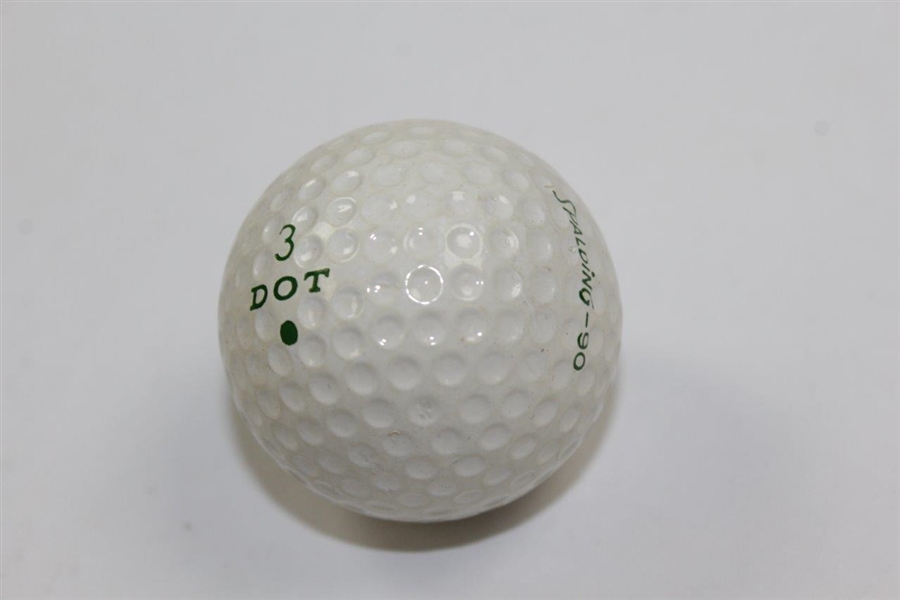 Vintage Masters Spalding-90 Green Dot Logo Golf Ball
