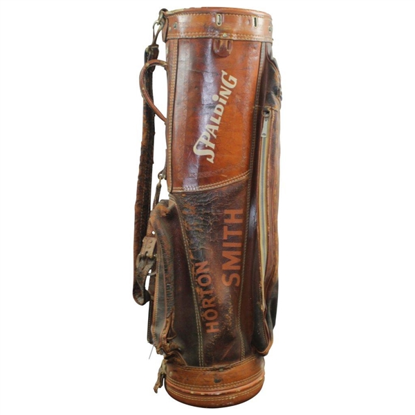 Horton Smith's Personal Vintage 1950's Spalding Golf Bag