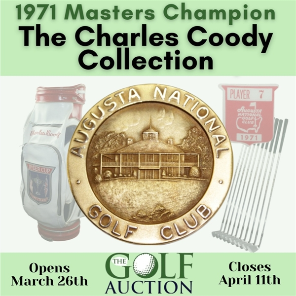 Charles Coody's 1997 Masters Tournament Hole No. 13 Crystal Steuben Eagle Glass