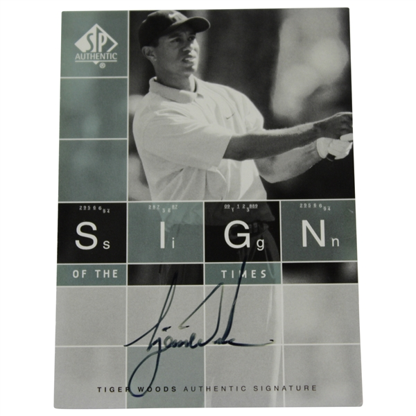 Tiger Woods Signed 2002 Upper Deck Sign of the Times Golf Card