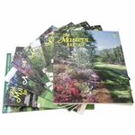 Eight (8) Masters Tournament Journals - 1991, 1992(x2), 1993-1995, 2001-2002