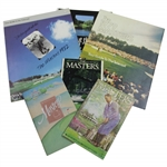 Five (5) Masters Tournament Broadcast Guides - 1979, 1982, 1988-1990