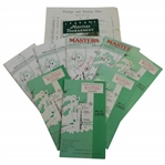 Eight Masters Spec Guides 1979-1980, 1982, 1985, 1991, 1996-1998 Plus Pair Sheet & 1997 Pamphlet