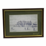 The Royal & Ancient Clubhouse Circa 1870 by Artist Bill Waugh - Signed Print - Framed JSA ALOA