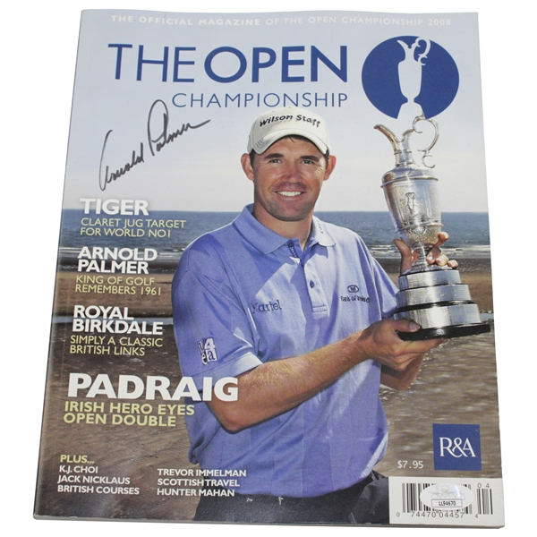 Arnold Palmer Signed 2008 The OPEN Championship Magazine JSA #LL94670