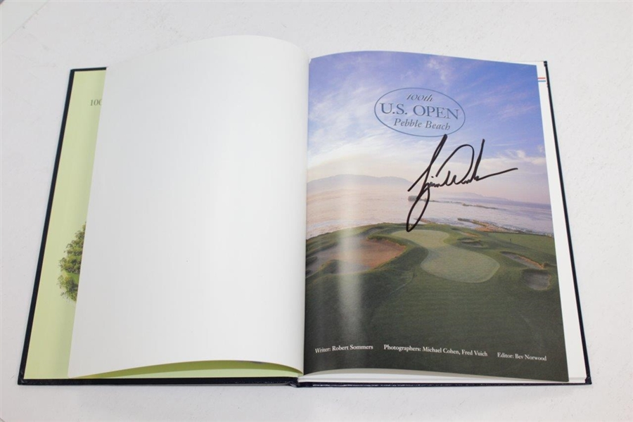 Tiger Woods Signed 2000 US Open at Pebble Beach Rolex Annual Book JSA ALOA