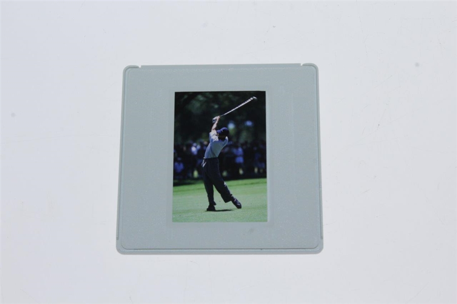 Tiger Woods Original 2001 Color Slide & Print - Comes with Photo Rights - Full Shot!